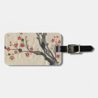 Red Plum Blossoms Tag Luggage Tag