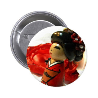 Red Plum I Pinback Button