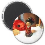 Red Plum Kokeshi Fridge Magnet