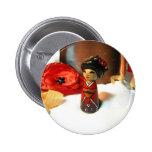 Red Plum Kokeshi Pin