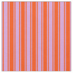 [ Thumbnail: Red & Plum Pattern of Stripes Fabric ]