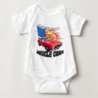Red Plymouth Barracuda Baby Bodysuit