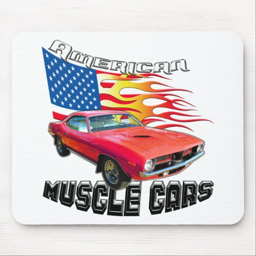 Red Plymouth Barracuda Mouse Pad