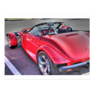 Red Plymouth Prowler Cool Car Cars Retro Postcard
