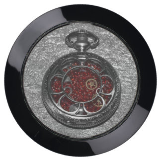 Red Pocket Watch USB Charging Station