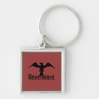 Red Poe Tribal Raven Nevermore Key Chain