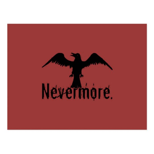 Red Poe Tribal Raven Nevermore Postcard