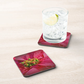 Red Poinsettia - Christmas Drink Coaster