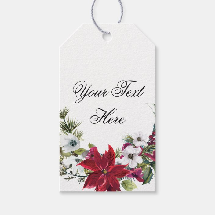 Red Poinsettia Floral Christmas Favor