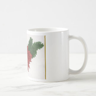 Red Poinsettia Flower Christmas Design Art Floral Coffee Mugs