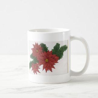 Red Poinsettia Flower Christmas Design Art Floral Mug