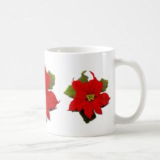 red poinsettia holiday mug 2