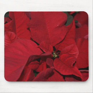 Red Poinsettia Mousepads