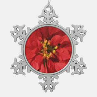 Red Poinsettia Ornaments
