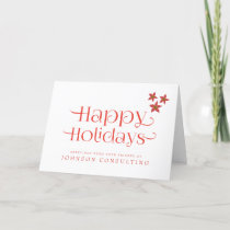 Red Poinsettia Typography | Holiday Greetings