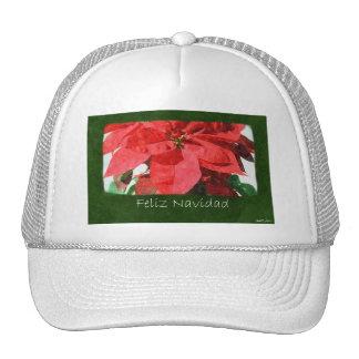 Red Poinsettias 1 - Feliz Navidad Trucker Hats