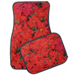 Red Poinsettias I Christmas Holiday Floral Photo Car Mat