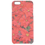 Red Poinsettias I Christmas Holiday Floral Photo Clear iPhone 6 Plus Case