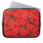 Red Poinsettias I Christmas Holiday Floral Photo Computer Sleeve