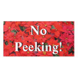 Red Poinsettias I Christmas Holiday Floral Photo Door Sign