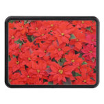 Red Poinsettias I Christmas Holiday Floral Photo Hitch Cover
