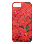 Red Poinsettias I Christmas Holiday Floral Photo iPhone 7 Case