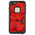 Red Poinsettias I Christmas Holiday Floral Photo LifeProof FRĒ iPhone 6/6s Plus Case