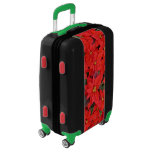 Red Poinsettias I Christmas Holiday Floral Photo Luggage