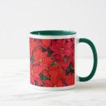 Red Poinsettias I Christmas Holiday Floral Photo Mug