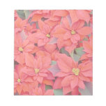 Red Poinsettias I Christmas Holiday Floral Photo Notepad