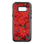 Red Poinsettias I Christmas Holiday Floral Photo OtterBox Commuter Samsung Galaxy S8  Case