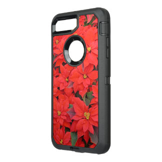 Red Poinsettias I Christmas Holiday Floral Photo OtterBox Defender iPhone 8 Plus/7 Plus Case