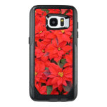 Red Poinsettias I Christmas Holiday Floral Photo OtterBox Samsung Galaxy S7 Edge Case