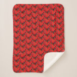 Red Poinsettias I Christmas Holiday Floral Photo Sherpa Blanket