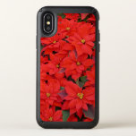 Red Poinsettias I Christmas Holiday Floral Photo Speck iPhone X Case