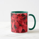 Red Poinsettias II Pretty Christmas Holiday Floral Mug