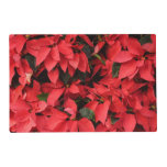 Red Poinsettias II Pretty Christmas Holiday Floral Placemat