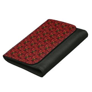 Red Poinsettias Women's Wallets