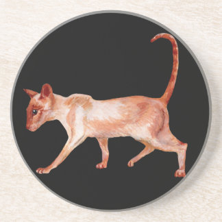 red point siamese cat coaster