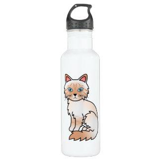 Red Point Tabby Birman / Ragdoll Cat Stainless Steel Water Bottle