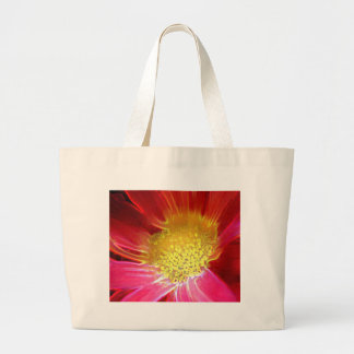 Red-Pointsettia-Glow Large Tote Bag