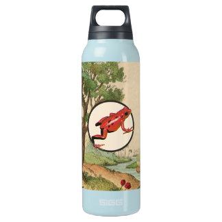 Red Poison Dart Frog Natural Habitat Illustration Insulated Water Bottle