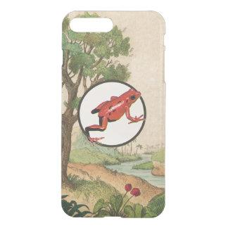 Red Poison Dart Frog Natural Habitat Illustration iPhone 7 Plus Case