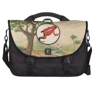 Red Poison Dart Frog Natural Habitat Illustration Bags For Laptop