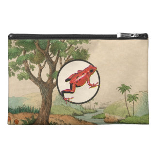Red Poison Dart Frog Natural Habitat Illustration Travel Accessory Bag