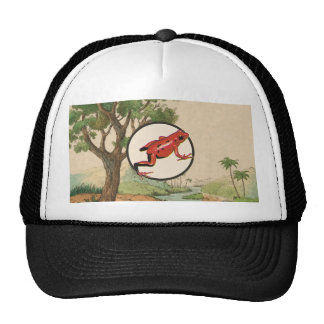 Red Poison Dart Frog Natural Habitat Illustration Trucker Hat