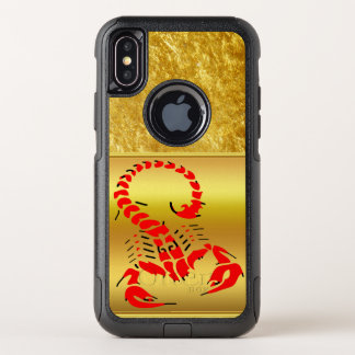 Red poisonous scorpion very venomous insect OtterBox commuter iPhone x case