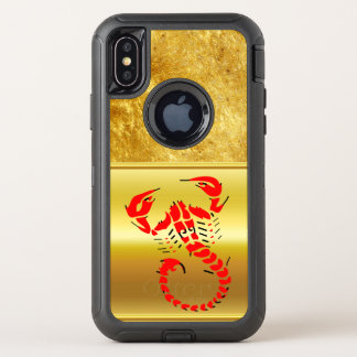 Red poisonous scorpion very venomous insect OtterBox defender iPhone x case