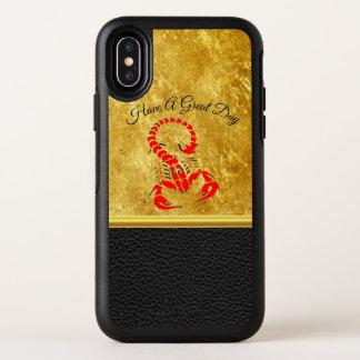 Red poisonous scorpion very venomous insect OtterBox symmetry iPhone x case