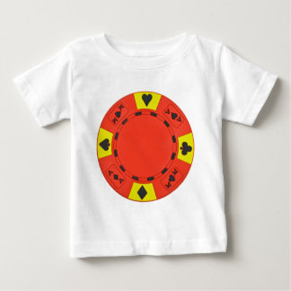 Red Poker Chip Baby T-Shirt